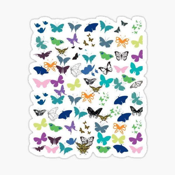 BUTTERFLIES SPECIES DESIGN PATTERN Sticker