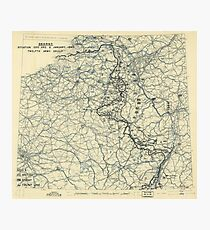 January 6 1945 World War II HQ Twelfth Army Group situation map Photographic Print