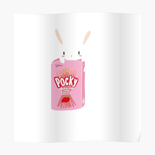 Bunny with pocky  Poster