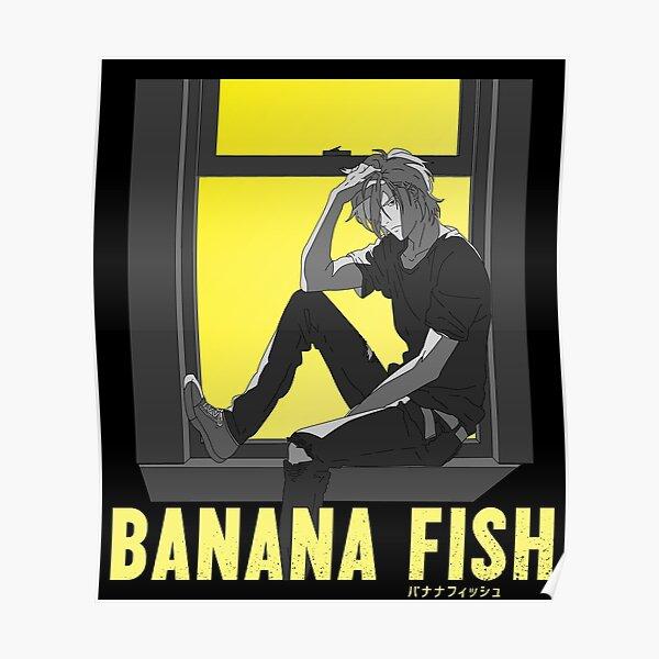 Alféizar de Ash - Banana Fish Póster