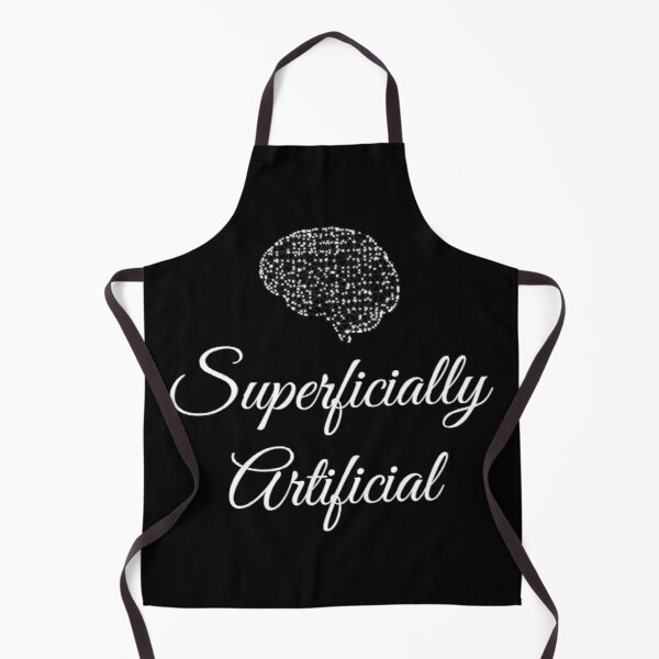 Superficially artificial - black Apron