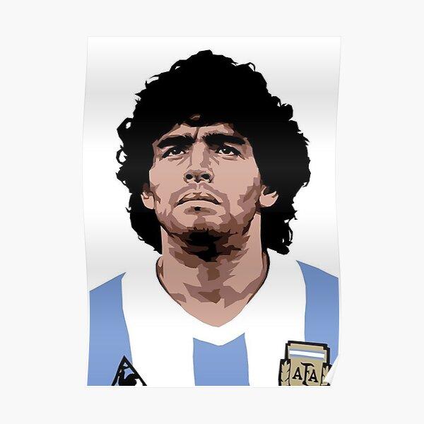 Diego Armando Maradona Art Poster