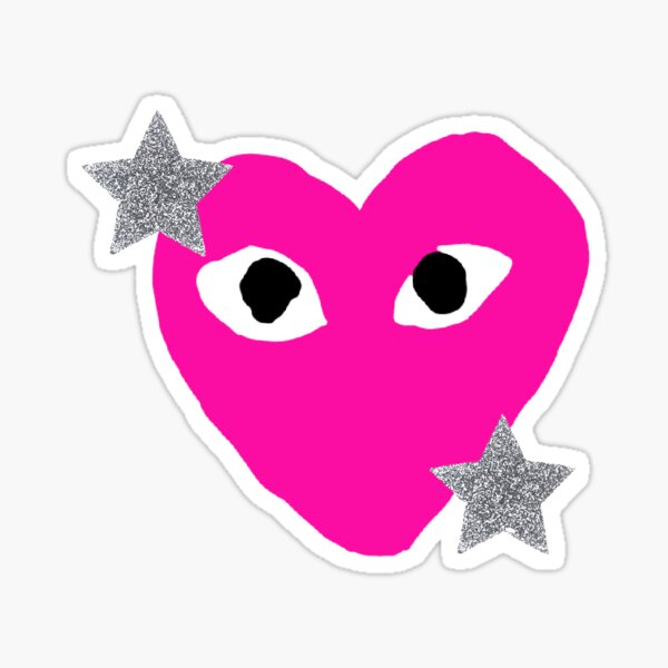 preppy heart Sticker