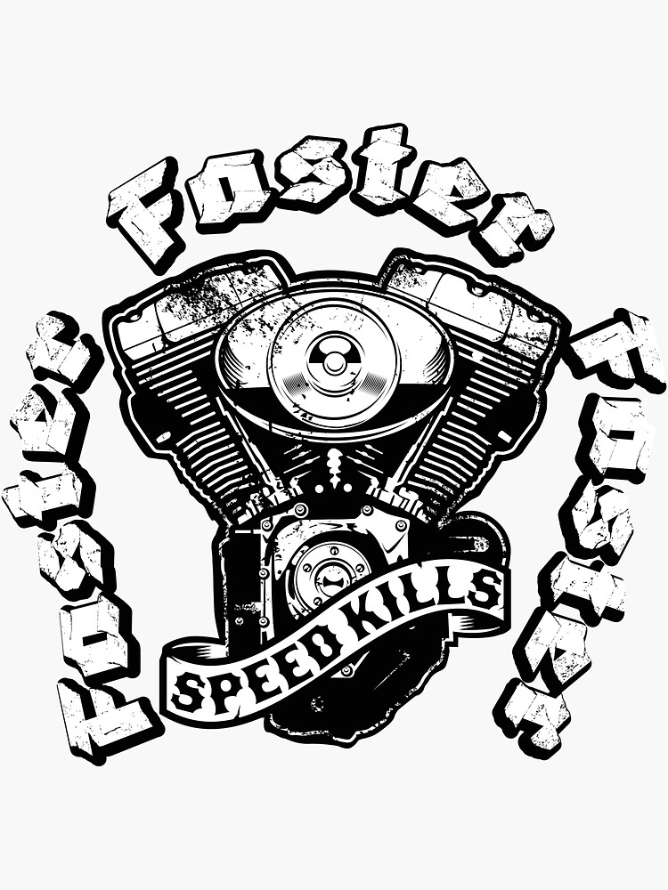 Faster, Faster, Faster! Speed kills Motorcyle by OrganicGraphic