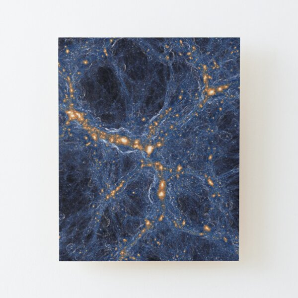Our Home Supercluster, Laniakea, supercluster of galaxies Wood Mounted Print