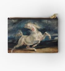 Horse Frightened by Lightning by Eugène Delacroix (1825 - 1829) Studio Pouch