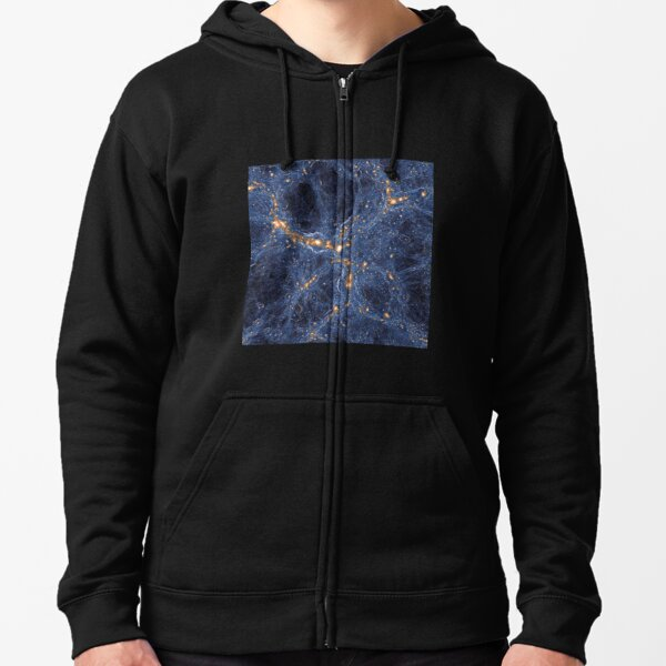 Our Home Supercluster, Laniakea, Supercluster of Galaxies Zipped Hoodie