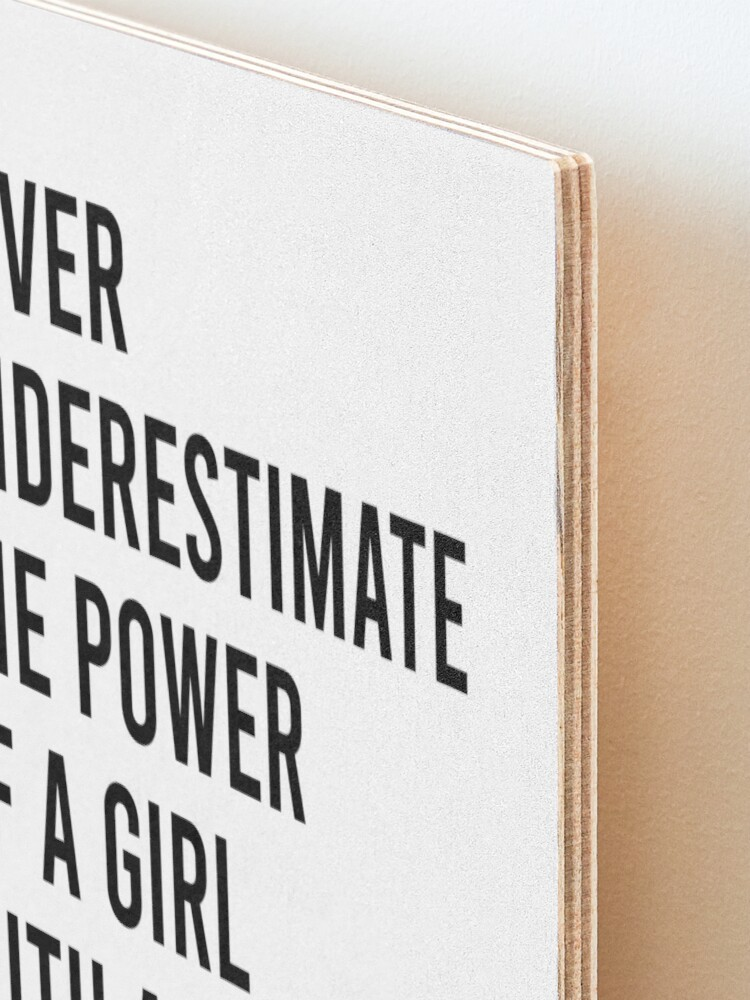 Alternate view of RBG Never Underestimate the Power of a Girl With a Book Mounted Print