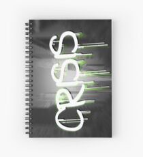 Crisis as graffiti on a wall  Spiral Notebook
