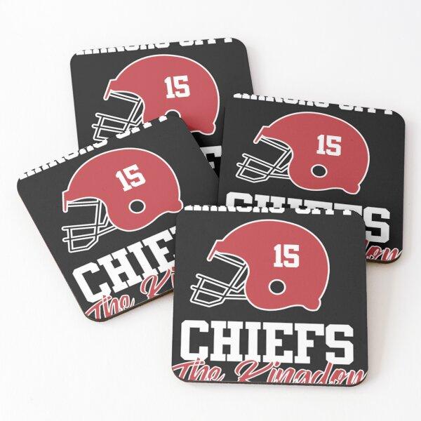 Kansas City-KC Football Coasters (Set of 4)