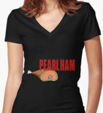 Pearl Ham. Women's Fitted V-Neck T-Shirt