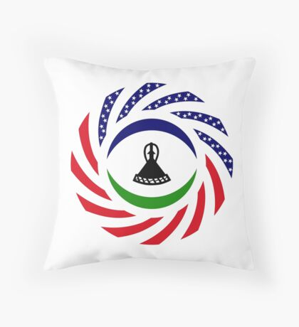 Mosotho American Multinational Patriot Flag Series Throw Pillow