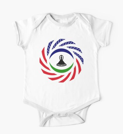 Mosotho American Multinational Patriot Flag Series Kids Clothes