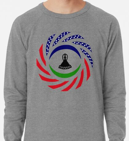 Mosotho American Multinational Patriot Flag Series Lightweight Sweatshirt