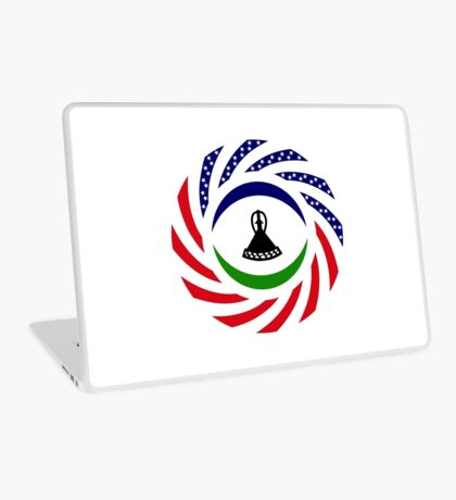 Mosotho American Multinational Patriot Flag Series Laptop Skin