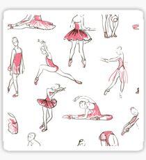 ballerina standing in a pose seamless pattern Sticker