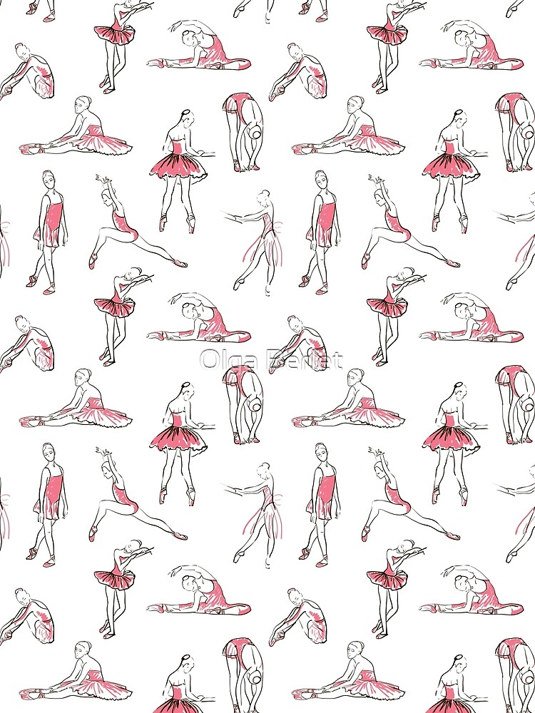 ballerina standing in a pose seamless pattern by OlgaBerlet