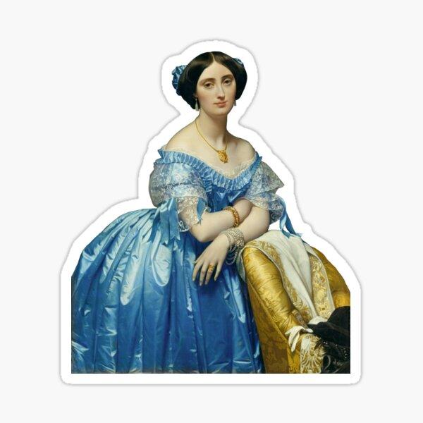 "Ingres's ""Joséphine-Éléonore-Marie-Pauline de Galard de Brassac de Béarn"" Sticker"