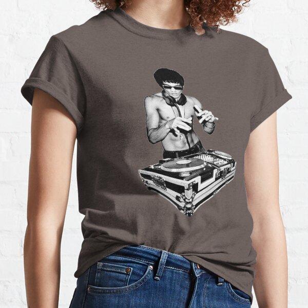 Cadeau de Bruce Lee DJ T-shirt classique
