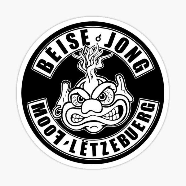 Béise Jong MooF Lëtzebuerg  Sticker