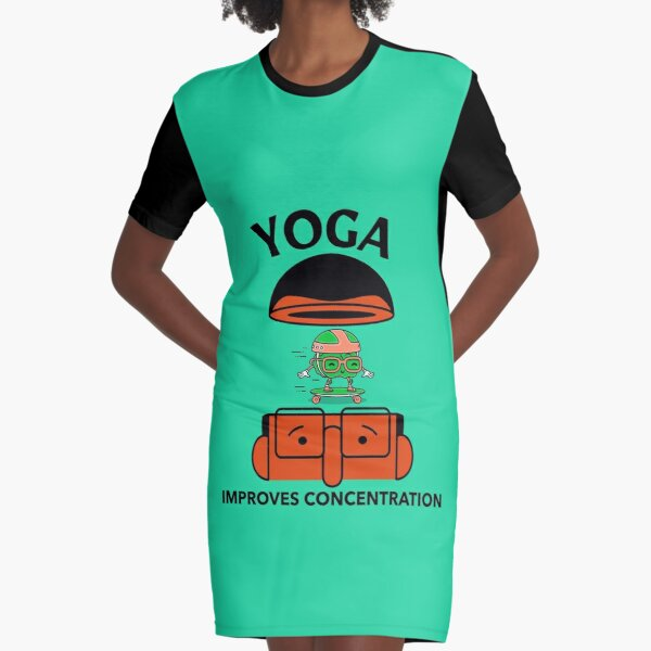 Yoga Improves concentration Graphic T-Shirt Dress