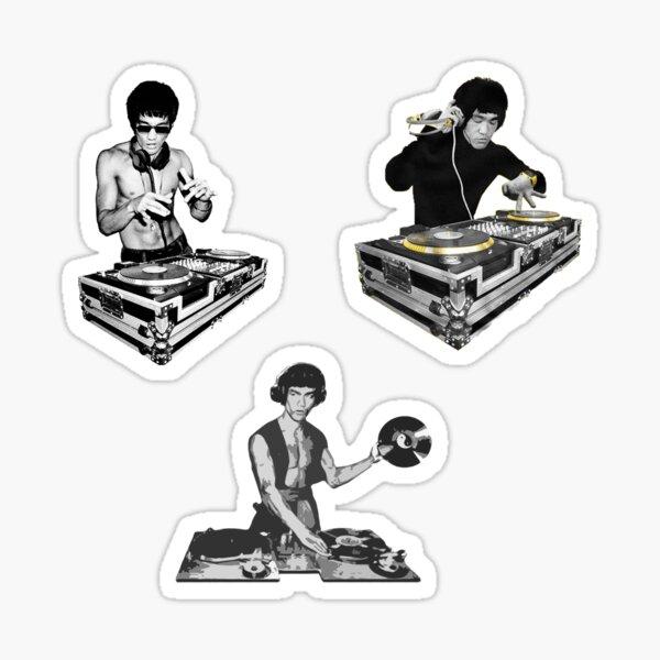 Paquete de regalo de Bruce Lee DJ Pegatina