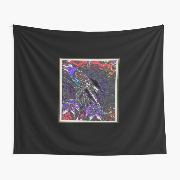 Midnight Crow In Search For Poe Tapestry