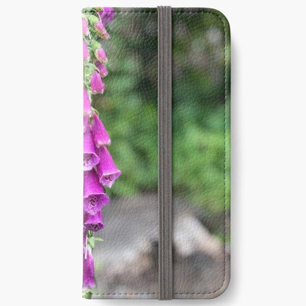 Pink Digitalis (Foxglove) Flower iPhone Wallet