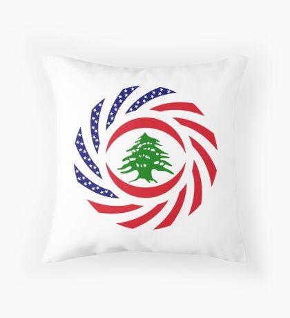 Lebanese American Multinational Patriot Flag Series Throw Pillow