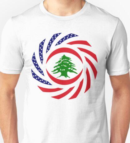 Lebanese American Multinational Patriot Flag Series T-Shirt