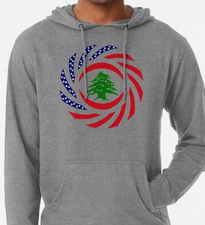 Lebanese American Multinational Patriot Flag Series Lightweight Hoodie