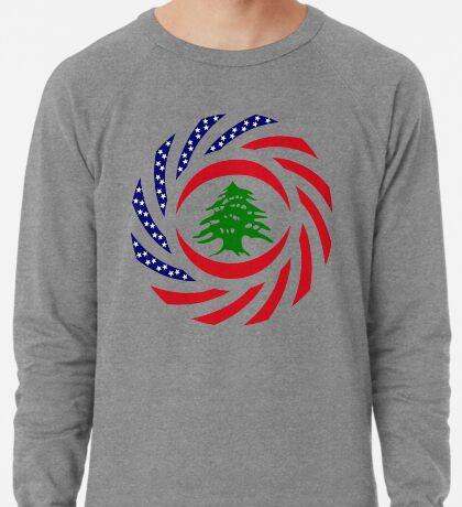 Lebanese American Multinational Patriot Flag Series Lightweight Sweatshirt