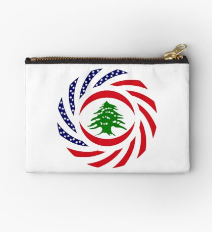 Lebanese American Multinational Patriot Flag Series Zipper Pouch