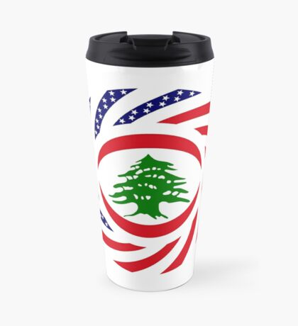 Lebanese American Multinational Patriot Flag Series Travel Mug