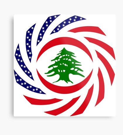 Lebanese American Multinational Patriot Flag Series Metal Print