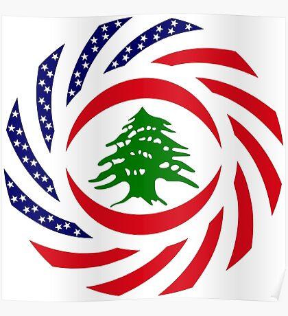 Lebanese American Multinational Patriot Flag Series Poster