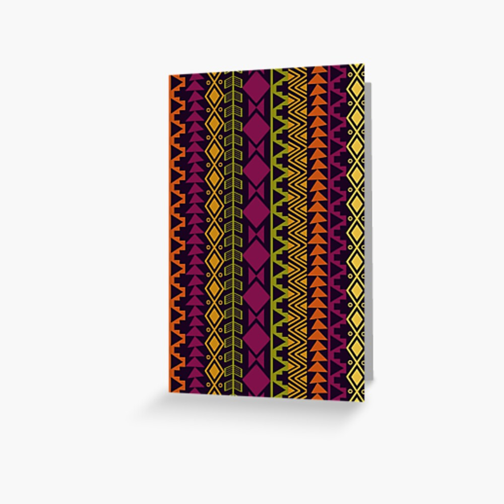 African Border Greeting Card