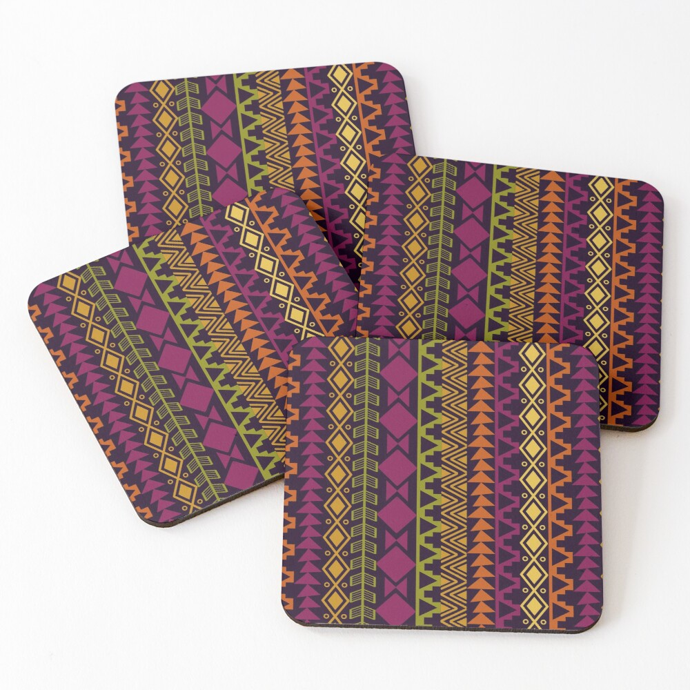 African Border Coasters (Set of 4)