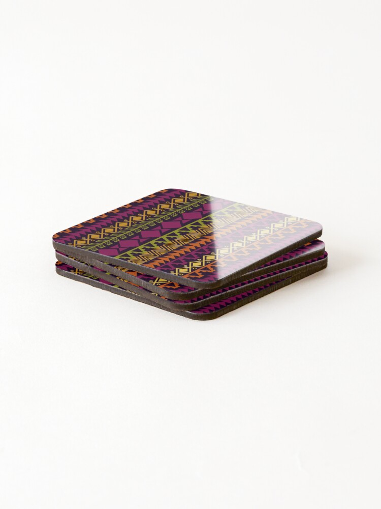 Alternate view of African Border Coasters (Set of 4)