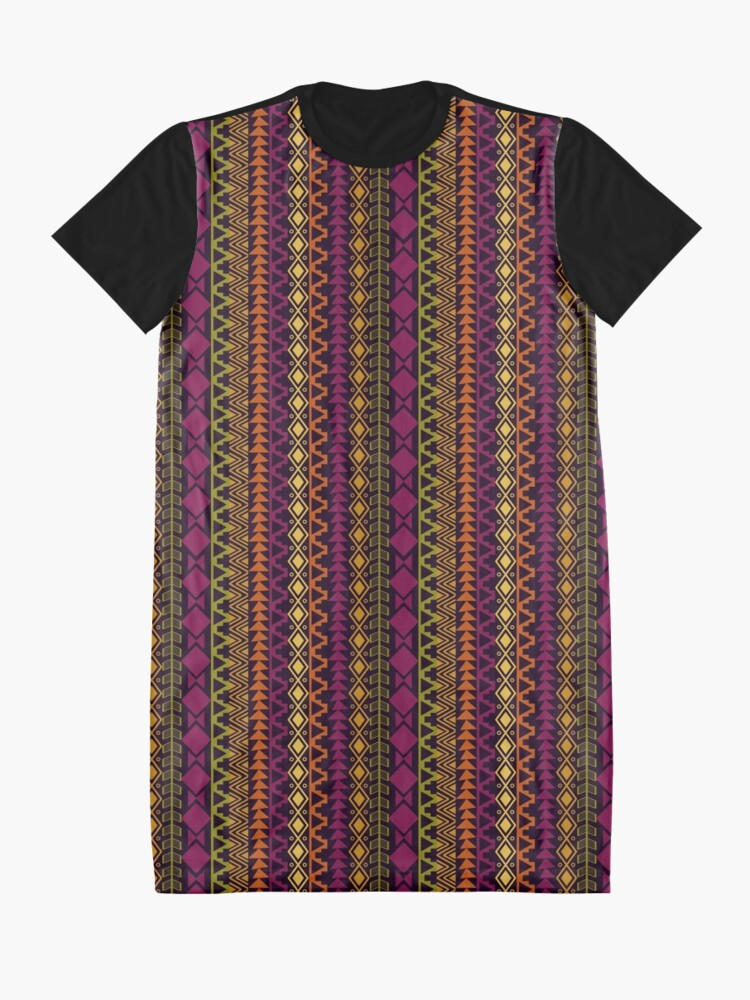 Alternate view of African Border Graphic T-Shirt Dress
