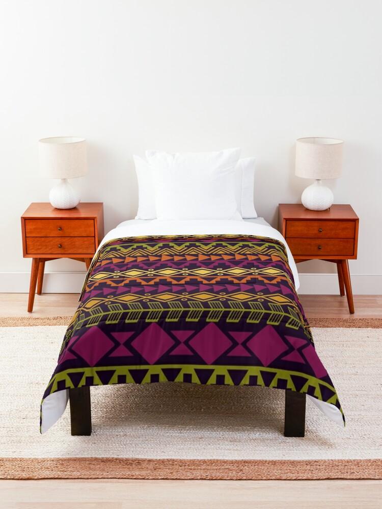 Alternate view of African Border Comforter
