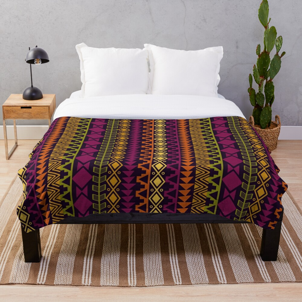 African Border Throw Blanket