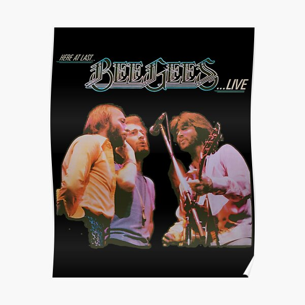 The Bee Gees Live Tour Classic Retro Design Poster