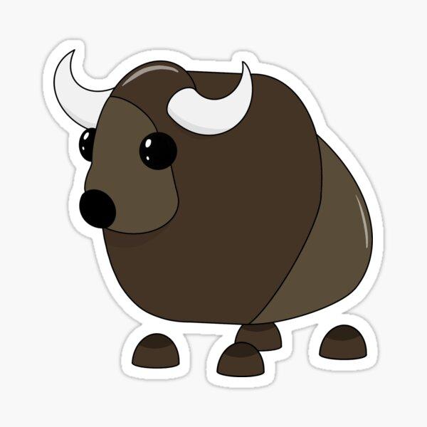 Adopt Me Buffalo Glossy Sticker
