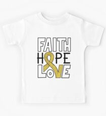 Faith Hope Love - Childhood Cancer Awareness Kids Clothes