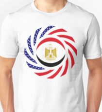 Egyptian American Multinational Patriot Flag Series Slim Fit T-Shirt