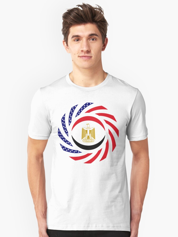 Alternate view of Egyptian American Multinational Patriot Flag Series Slim Fit T-Shirt