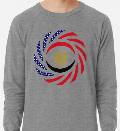 Egyptian American Multinational Patriot Flag Series Lightweight Sweatshirt