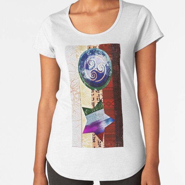 Yahweh's Creations Agape Flag Artistic Premium Scoop T-Shirt