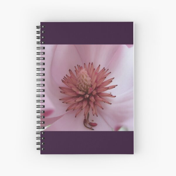 Magnolia flower heart Spiral Notebook